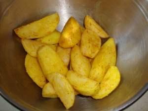 Курица гриль с запеченной картошкой