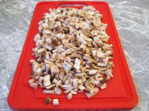 Котлеты из индейки, фаршированные грибами