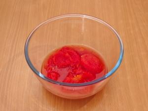 Томатный крем суп с макаронами