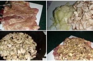 Рулет  мясной с грибами Мясоед