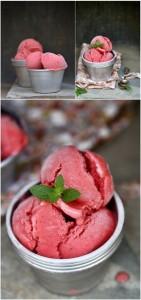 Клубничный замороженный йогурт