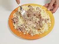 Салат закуска из печени трески