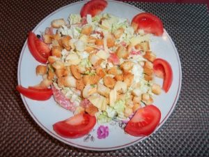 Салат цезарь по домашнему