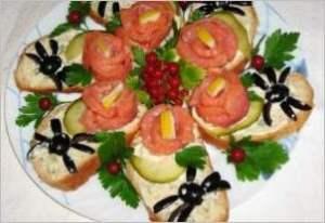 Бутерброды Роза и паучок