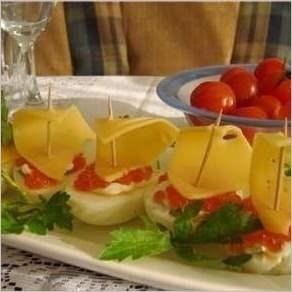 Быстрая закуска «Кораблики»