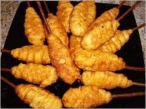 Горячая закуска «Ложные куриные ножки»