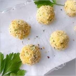 Хрустящие картофельно сырные шарики