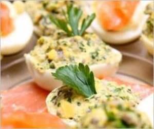 Яйца фаршированные рыбой