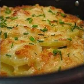 Картофель Дофин запеченный под сыром