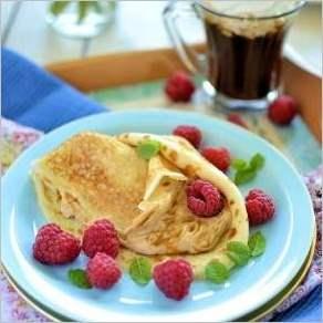 Кофейные блиныКапучино с кремом маскарпоне