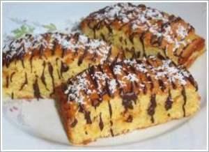 Кокосовые пирожные с шоколадом