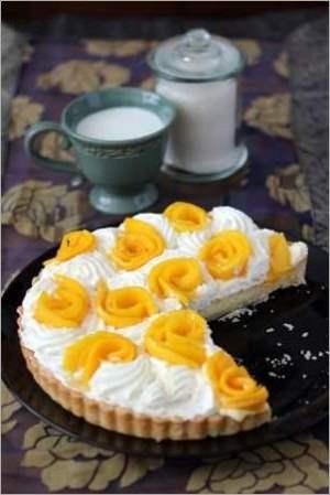 Кокосовый пирог с манго