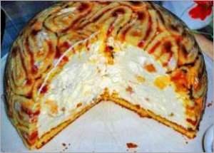 Королевская шарлотка   торт без выпечки