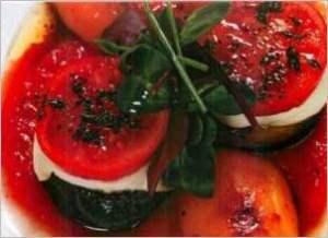 Мильфей овощной с томатами