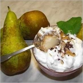 Орехово грушевый десерт