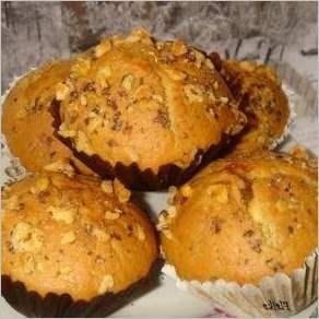 Ореховые кексы с яблочно дынным вареньем