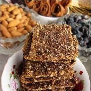 Печенье из фруктов орехов и семечек