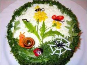 Печеночный торт Краски лета