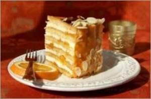 Песочный торт Апельсин