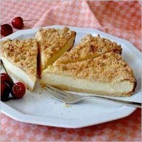 Пирог с творогом и маскарпоне
