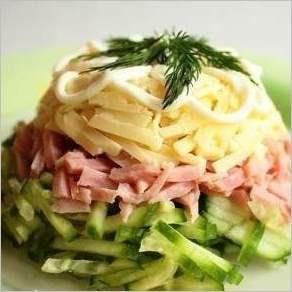 Салат из ветчины «Мужская мечта»