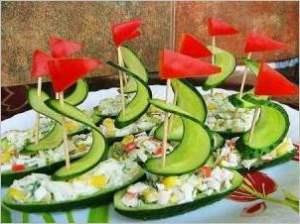 Салат огуречная флотилия