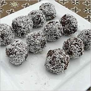 Шоколадно кокосовые шарики