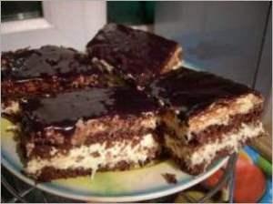 Шоколадно кокосовый торт