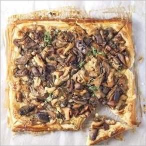 Слоеный пирог с грибами
