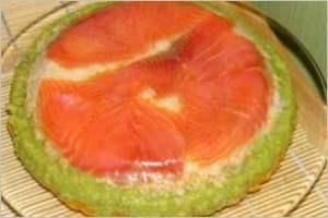 Суши торт с красной рыбой
