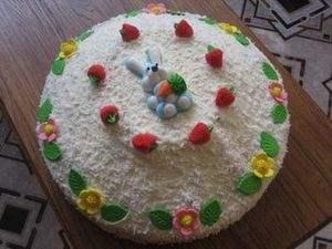 Торт бисквитный Творожный