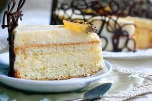 Торт десерт Лимонный тирамису