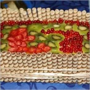 Торт «Фруктовая корзина»