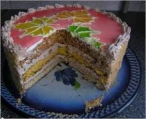 """Торт """"Клиновые листья"""""""