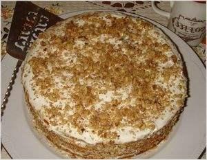 Торт Медовик с зефиром