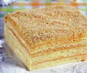 Торт Наполеон на пиве