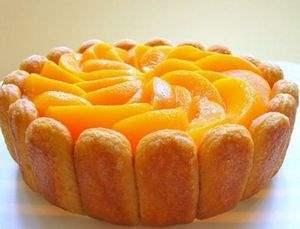 Торт   Персиковая шарлотка