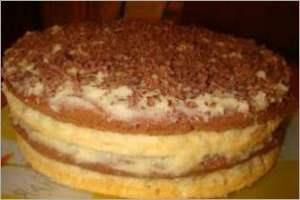 Торт Птичье молоко с крем суфле на манке