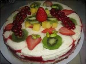 Торт с лимонным шантели