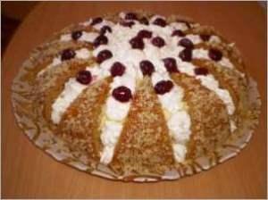 Тортик ореховый бисквит