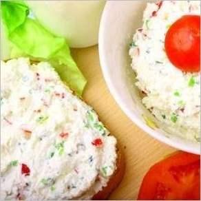 Творожно овощной салат