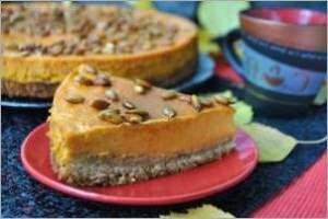 Тыквенно кремовый торт на ореховом корже