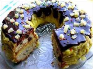 Венок кекс с заварным кремом