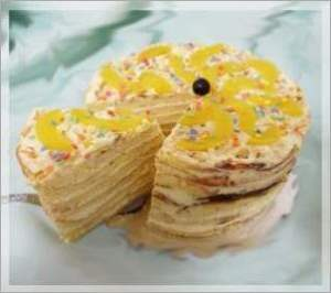 Винно персиковый торт Нежность