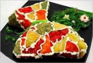Закусочный торт из слоеного теста Мешочек счастья