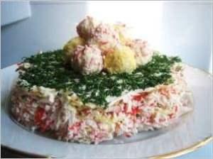 Закусочный торт Крабовый рай