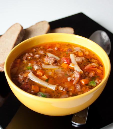 суп с мясом и стручковой фасолью рецепт